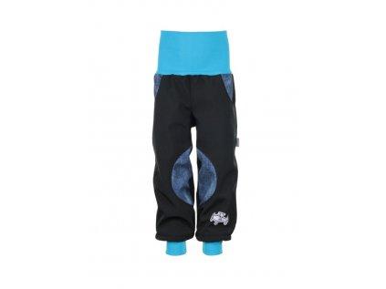 Dětské softshellové kalhoty Černé s jeans kluk