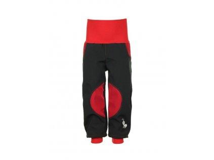 Dětské softshellové kalhoty Černo-červené