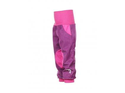 Dětské softshellové kalhoty Fialovo-růžové