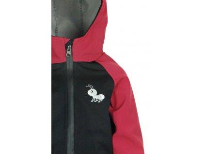 Dětská softshellová bunda Černo-červená