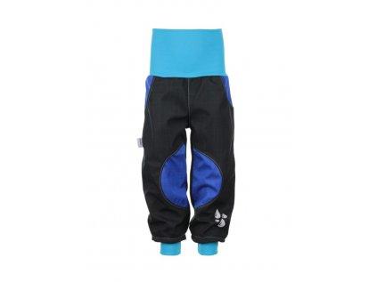 Dětské softshellové kalhoty Černo-modré II